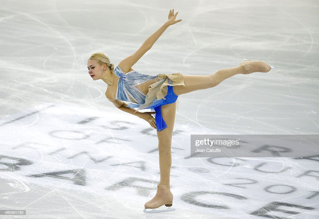 Anna Pogorilaya of Russia performs during the Ladies Short Program Final on day one of the ISU Grand Prix of Figure Skating Final 2014/2015 at Barcelona International Convention Centre on December 11, 2014 in Barcelona, Spain.