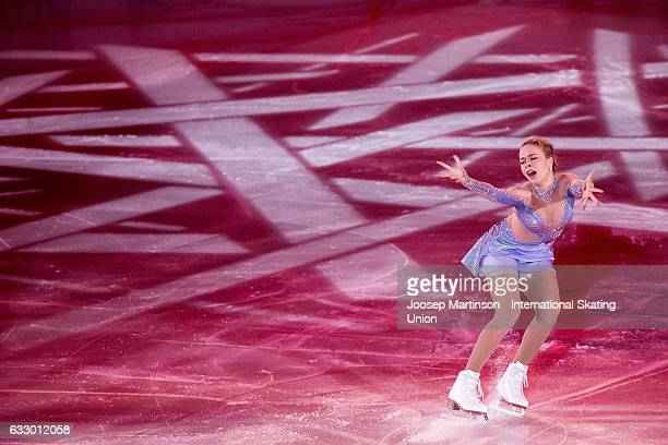 Anna Pogorilaya of Russia performs in the gala exhibition during day 5 of the European Figure Skating Championships at Ostravar Arena on January 29...