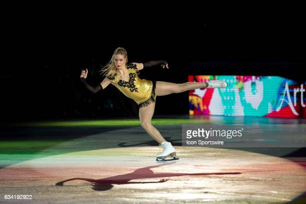 Anna Pogorilaya skates during the Art on Ice show on February 7 at Malley Arena in Lausanne Switzerland