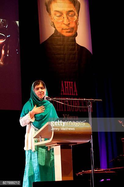 Anna Politkovskaya Award 2013 given to 16 year old human rights defender Malala Yousafzai