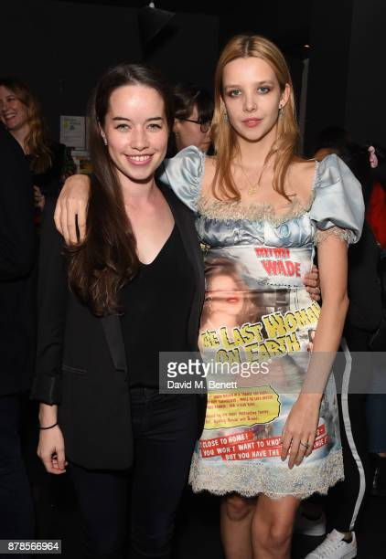 Anna Popplewell and Greta Bellamacina attend a screening of short films 'Indigo Valley' and 'The Last Birthday' at Shortwave Cinema on November 24...