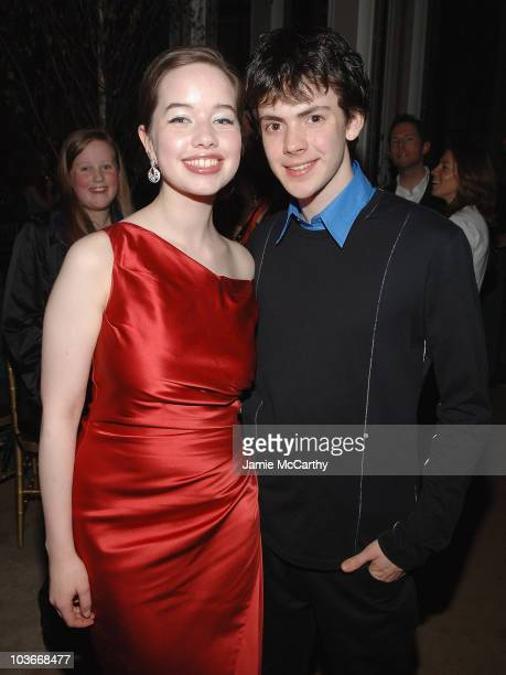 Anna Popplewell and Skandar Keynes attend the The Chronicles of Narnia Prince Caspian New York Premiere After Party at New York Public Library in New...