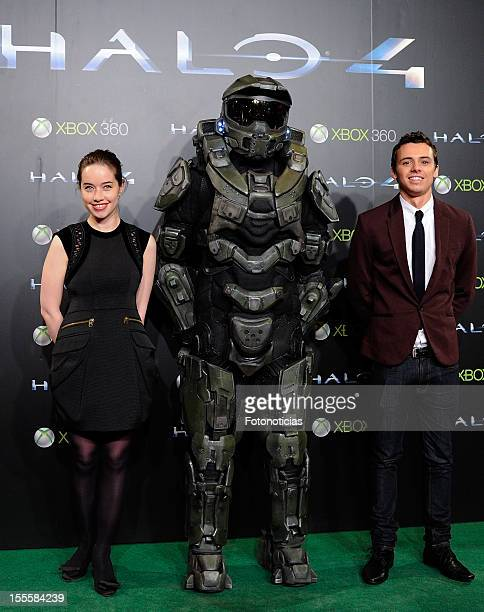 Anna Popplewell and Tom Green attend the premiere of Halo 4 Forward Unto Dawn Madrid Premiere at Callao Cinema on November 5 2012 in Madrid Spain