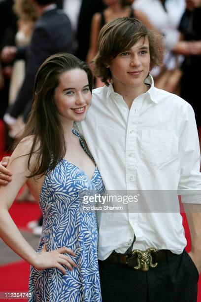 Anna Popplewell and William Moseley during Pirates of The Caribbean 2 Dead Man's Chest London Premiere at Odeon Leicester Square in London Great...
