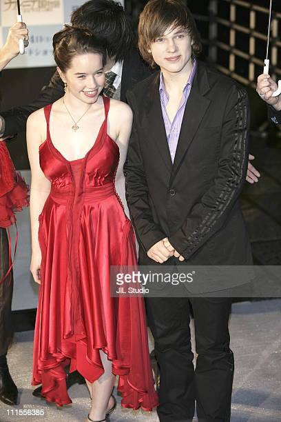 Anna Popplewell and William Moseley during The Chronicles of Narnia The Lion the Witch and the Wardrobe Tokyo Premiere at Nippon Budokan in Tokyo...