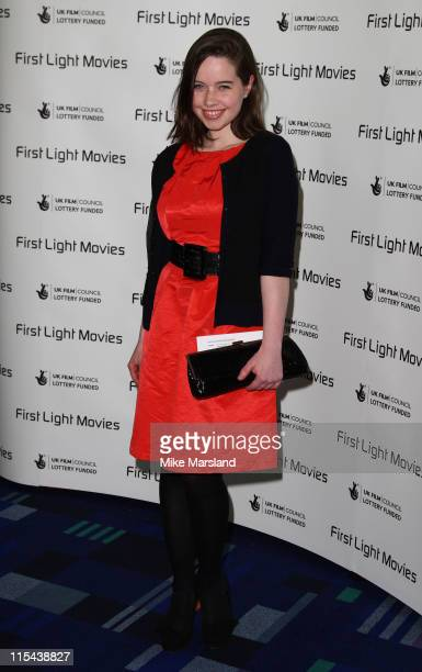 Anna Popplewell arrives at the First Light Movies Awards at the Odeon Leicester Square on March 4 2008 in London England