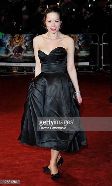 Anna Popplewell attends the Royal Film Performance and World Premiere of 'The Chronicles Of Narnia The Voyage Of The Dawn Treader' at Odeon Leicester...