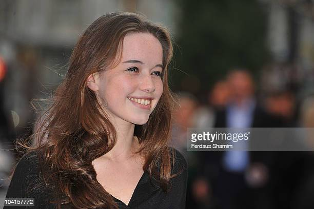 Anna Popplewell attends the UK premiere of 'The Death and Life of Charlie St Cloud' at Empire Leicester Square on September 16 2010 in London England
