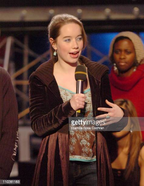 Anna Popplewell during Anna Popplewell and Skandar Keynes of The Chronicles of Narnia Visit Fuse's Daily Download December 9 2005 at Fuse Studios in...