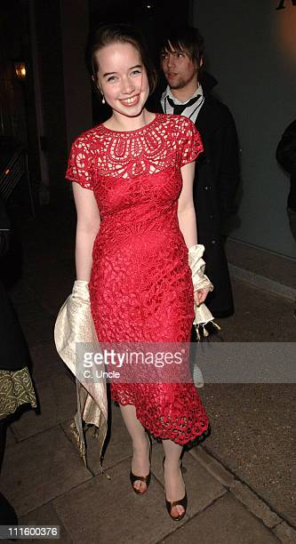 Anna Popplewell during 'Memoirs of a Geisha' London Premiere After Party at Nobu Restaurant in London Great Britain