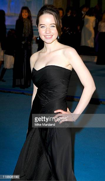 Anna Popplewell during 'The Chronicles of Narnia The Lion The Witch and the Wardrobe' London Premiere Outside Arrivals at Royal Albert Hall in London...