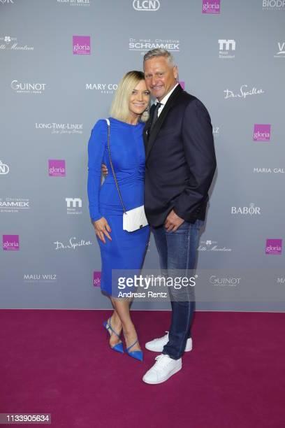 Anna Posch and Stefan Bloecher attend the Gloria Deutscher Kosmetikpreis at Hilton Hotel on March 30 2019 in Duesseldorf Germany