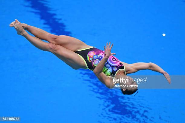 Anna Pymsenska of Ukraine competes during the Womens 1M Springboard Diving preliminary round on day one of the Budapest 2017 FINA World Championships...