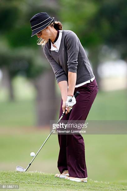 Anna Rawson of Australia chips during the first round of the SemGroup Championship presented by John Q Hammons on May 1 2008 at Cedar Ridge Country...