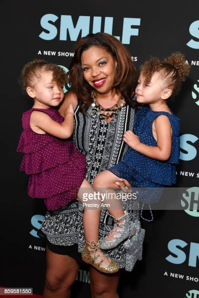"""Anna Reimer, Jodi Reimer and Alexandra Reimer attend the premiere of Showtime's """"SMILF"""" at Harmony Gold Theater on October 9, 2017 in Los Angeles,..."""