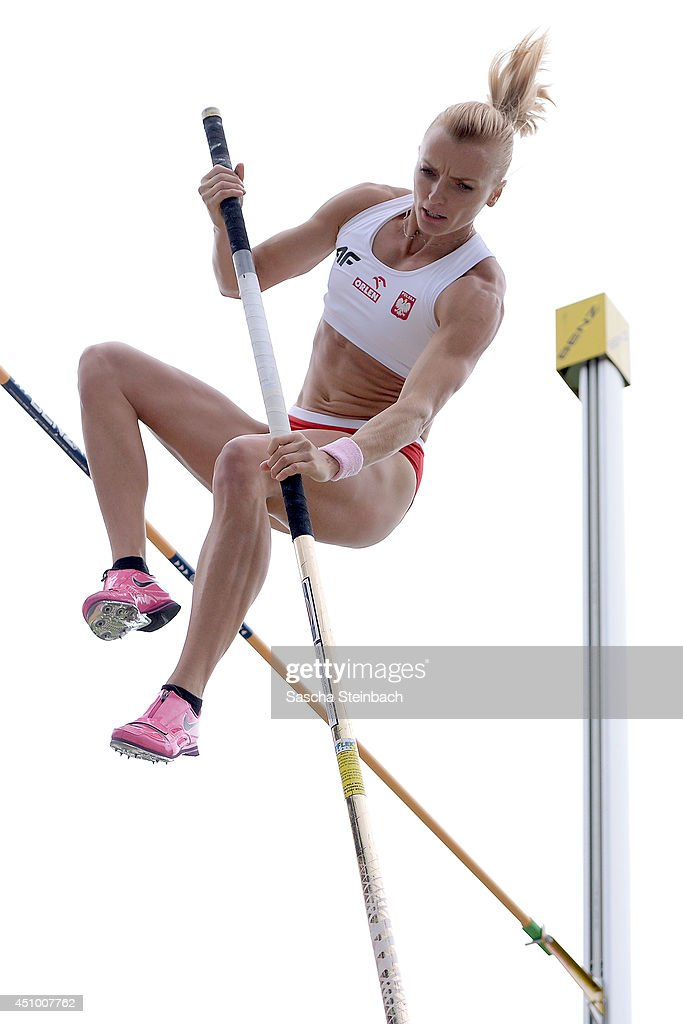 Anna Rogowska of Poland competes in the Women's Pole Vault during first day of the European Athletics Team Championship at Eintracht Stadium on June 21, 2014 in Braunschweig, Germany.
