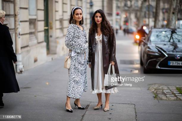 Anna Rosa Vitiello and Bettina Looney is seen during Paris Fashion Week Womenswear Fall/Winter 2019/2020 on March 01 2019 in Paris France