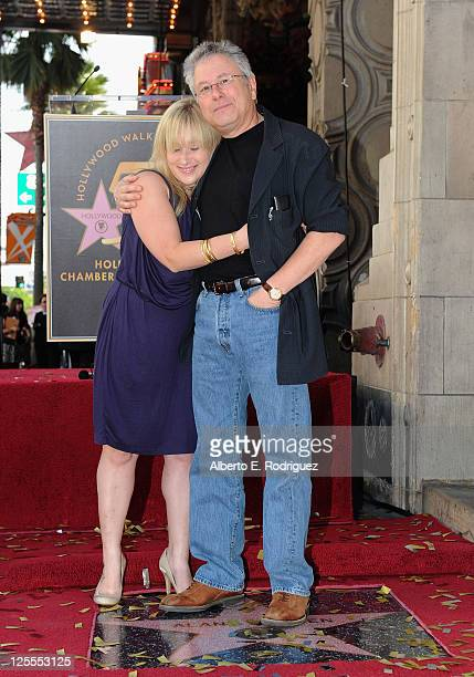 Anna Rose Menken and composer Alan Menken attend a ceremony honring Alan Menken with a Star on The Hollywood Walk of Fame on November 10 2010 in...