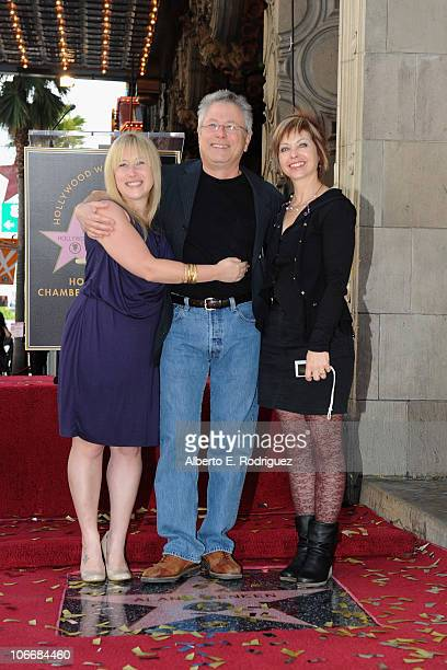 Anna Rose Menken composer Alan Menken and Janis Menken attend a ceremony honring Alan Menken with a Star on The Hollywood Walk of Fame on November 10...