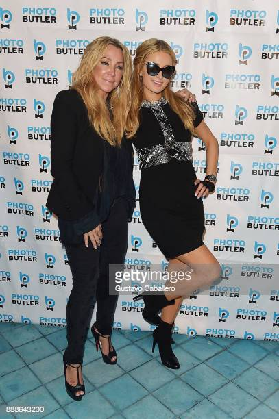 Anna Rothschild and Paris Hilton attend Rosario Dawson Hosts The Launch Of Photo Butler At Art Basel With Anna Rothschild And Claudine De Niro at...