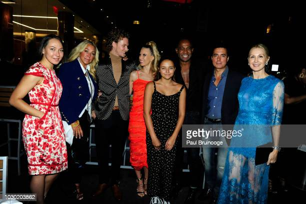 Anna Rothschild Barron Hilton Tessa Hilton Makayla Guimaraes Frederick Anderson Peter Guimaraes and Kelly Rutherford attend Fashion Week Party To...