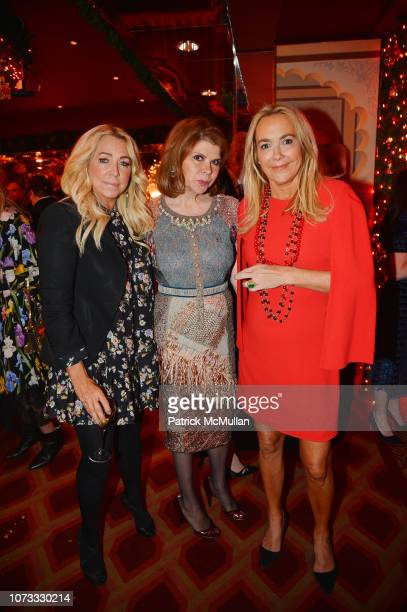 Anna Rothschild Ivana Lowell and Laurie Durning Waters attend George Farias Anne Jay McInerney Host A Holiday Party at The Doubles Club on December...