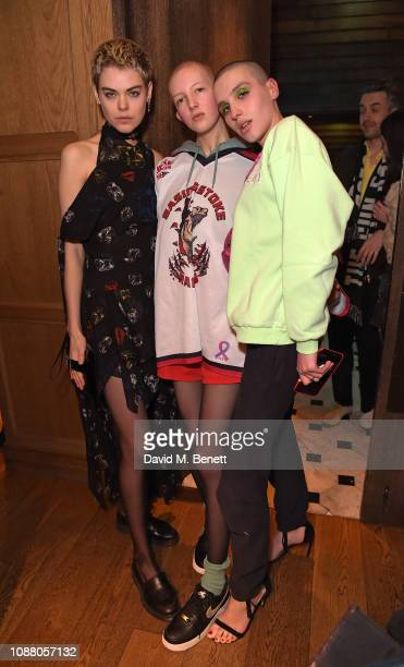 Anna Rubin Finn Buchanan and Maxim Magnus attend Burns Night Gathering hosted by Christopher Kane and The London EDITION on January 24 2019 in London...