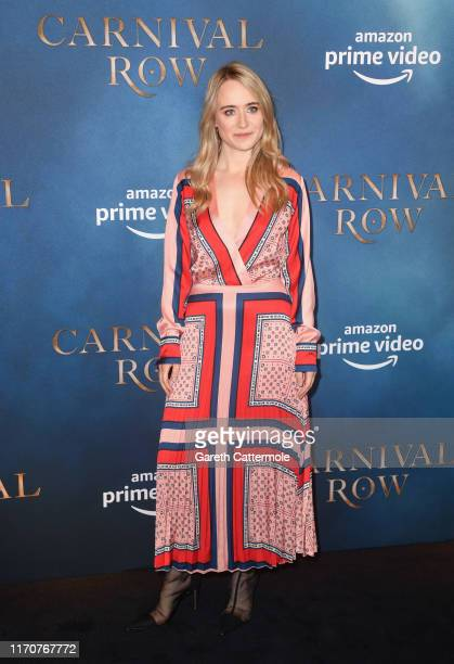 Anna Rust attends the Amazon Original series Carnival Row London Screening at The Ham Yard Hotel on August 28 2019 in London England
