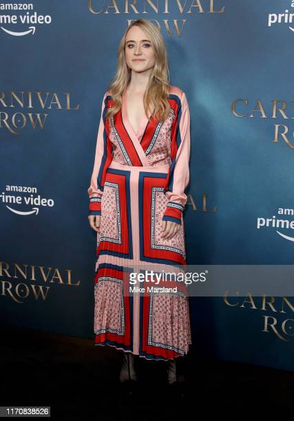 Anna Rust attends the Carnival Row London Premiere at The Ham Yard Hotel on August 28 2019 in London England