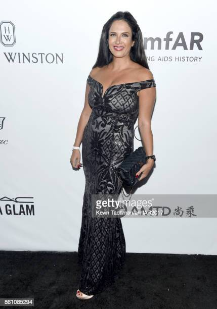 Anna Sabre at amfAR Los Angeles 2017 at Ron Burkle's Green Acres Estate on October 13 2017 in Beverly Hills Californi
