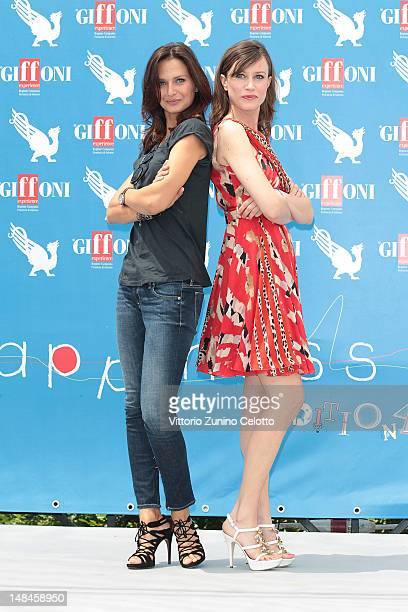 Anna Safroncik and Giorgia Wurth attend 2012 Giffoni Film Festival photocall on July 17 2012 in Giffoni Valle Piana Italy