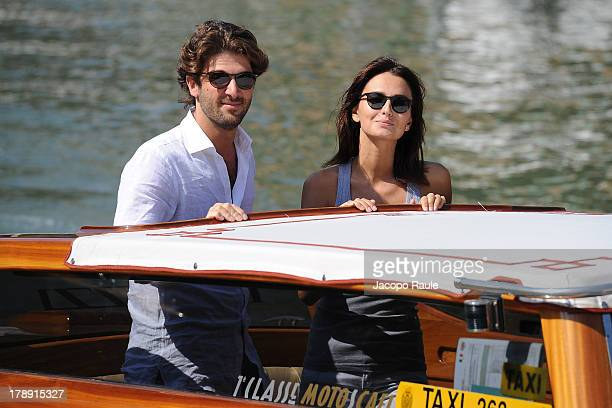 Anna Safroncik and Paolo Barletta are seen during The 70th Venice International Film Festival on August 31 2013 in Venice Italy