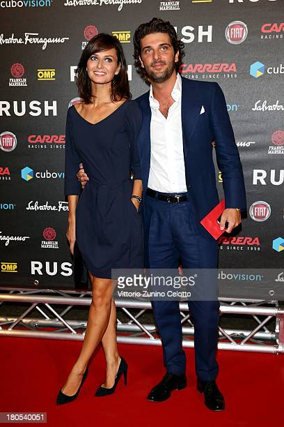 Anna Safroncik and Paolo Barletta attend 'Rush' The Movie Rome Premiere at Auditorium della Conciliazione on September 14 2013 in Rome Italy