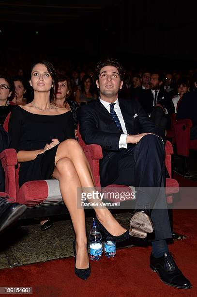 Anna Safroncik and Paolo Barletta attend 'Vorrei 2013' Charity Event To Support Fondazione FFC at Teatro Sistina on October 28 2013 in Rome Italy