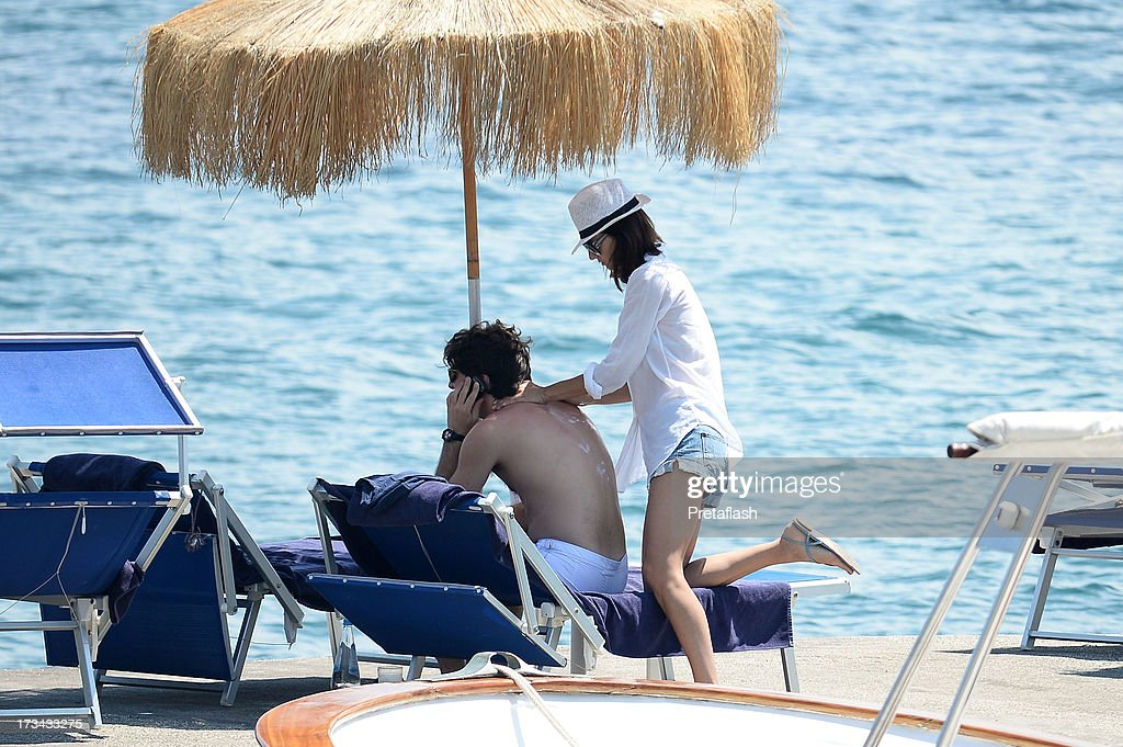 Anna Safroncik and Paolo Barletta seen at the 2013 Ischia Global Fest on July 14, 2013 in Ischia, Italy.