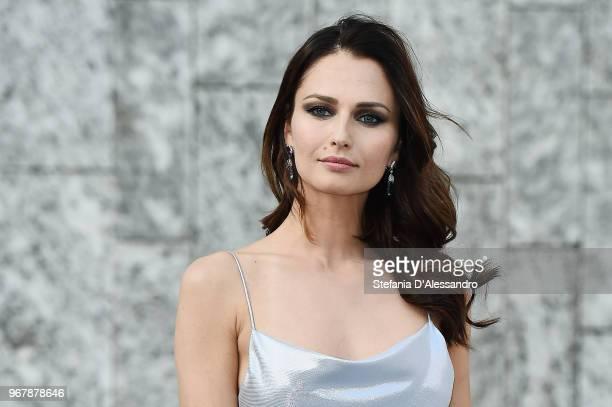 Anna Safroncik arrives at Convivio 2018 on June 5 2018 in Milan Italy