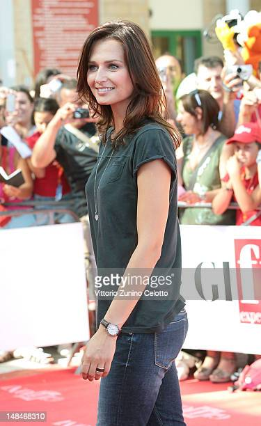 Anna Safroncik attends 2012 Giffoni Film Festival Red Carpet on July 17 2012 in Giffoni Valle Piana Italy