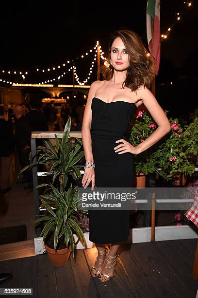 Anna Safroncik attends Dsquared2 Dinner Party on May 30 2016 in Rome Italy