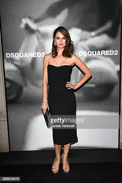 Anna Safroncik attends Dsquared2 instore cocktail on May 30 2016 in Rome Italy