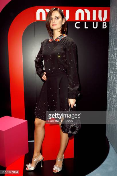 Anna Safroncik attends Miu Miu Club Rome Cocktail Party on November 23 2017 in Rome Italy