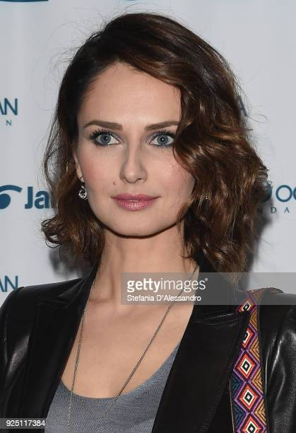 Anna Safroncik attends One Ocean Foundation event on February 27 2018 in Milan Italy