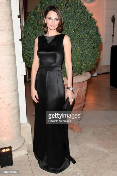 Anna Safroncik attends Rome EPrix on April 14 2018 in Rome Italy