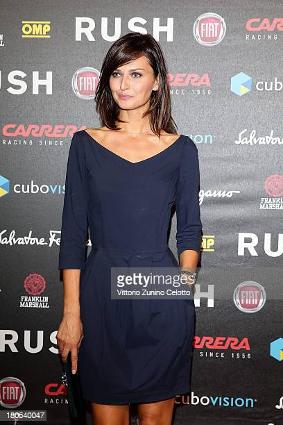 Anna Safroncik attends 'Rush' The Movie Rome Premiere at Auditorium della Conciliazione on September 14 2013 in Rome Italy