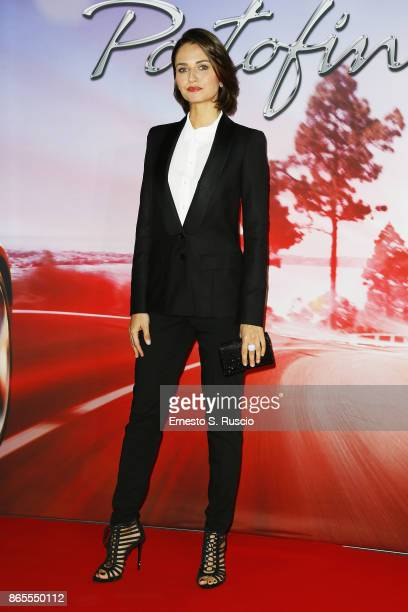 Anna Safroncik attends the 'Ferrari Portofino' premiere at Roma Convention Center La Nuvola on October 23 2017 in Rome Italy