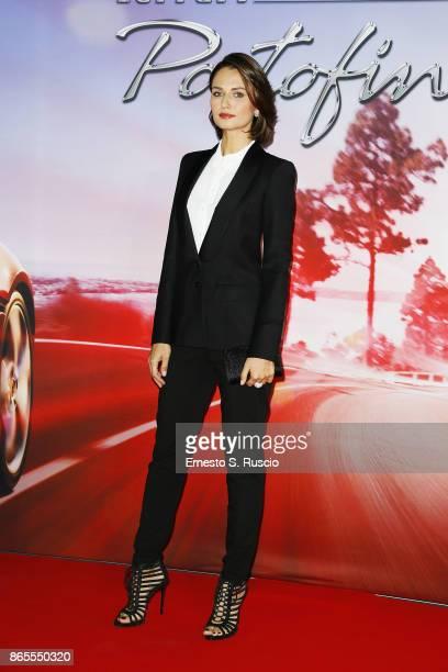Anna Safroncik attends the Ferrari Portofino premiere at Roma Convention Center La Nuvola on October 23 2017 in Rome Italy