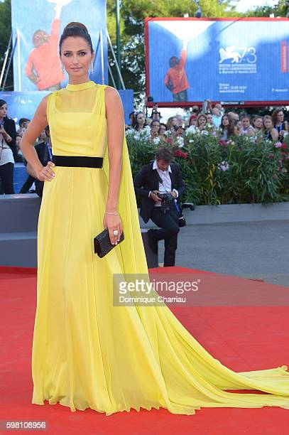 Anna Safroncik attends the opening ceremony and premiere of 'La La Land' during the 73rd Venice Film Festival at Sala Grande on August 31 2016 in...