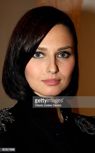 Anna Safroncik attends the Silvian Heach Fashion Show on October 29 2009 in Milan Italy