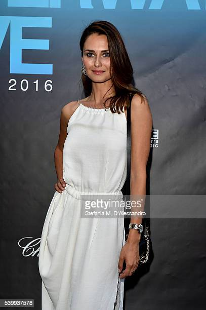 Anna Safroncik attends the Underwater Love Party at Firenze4ever 13th Edition hosted by LuisaViaRoma during Pitti 90 on June 13 2016 in Florence Italy