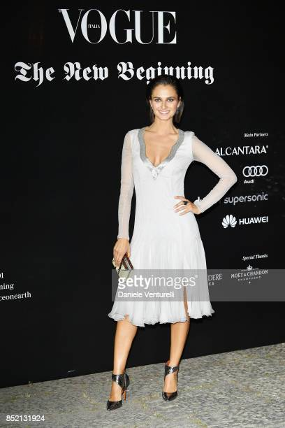 Anna Safroncik attends theVogue Italia 'The New Beginning' Party during Milan Fashion Week Spring/Summer 2018 on September 22 2017 in Milan Italy