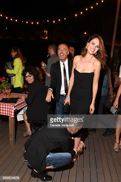 Anna Safroncik Dean and Dan Caten attend Dsquared2 Dinner Party on May 30 2016 in Rome Italy